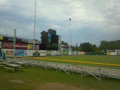 Centennial Field, section: 3rd base fence