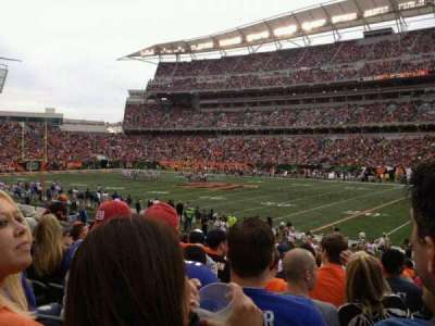 Paul Brown Stadium, section: 136, row: 17