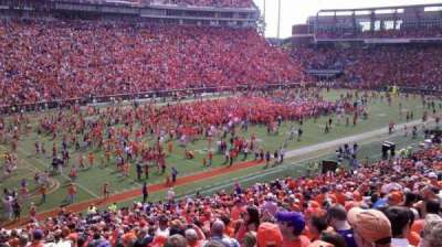 Memorial Stadium, Clemson, section: K, row: QQ, seat: 27