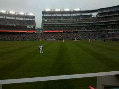 Nationals Park, section: 104, row: A, seat: 10