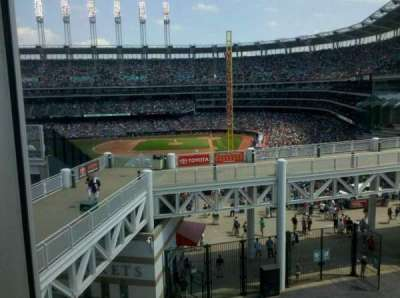 Progressive Field section parking deck