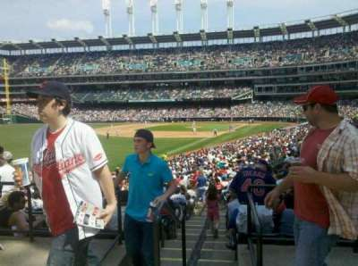 Progressive Field section left field