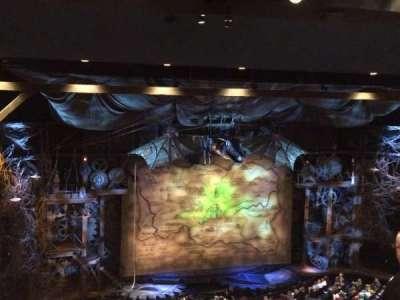 Gershwin Theatre, section: Right Mezzanine , row: G, seat: 5