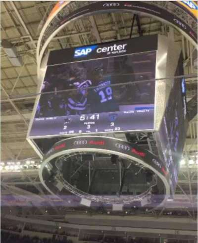 SAP Center at San Jose, section: 101, row: 3, seat: 1