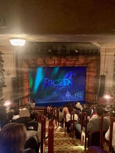 St. James Theatre, section: Mezzanine L, row: P, seat: 1