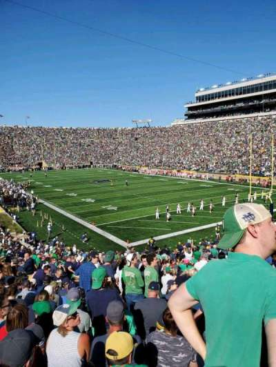 Notre Dame Stadium, section: 22, row: 39, seat: 12