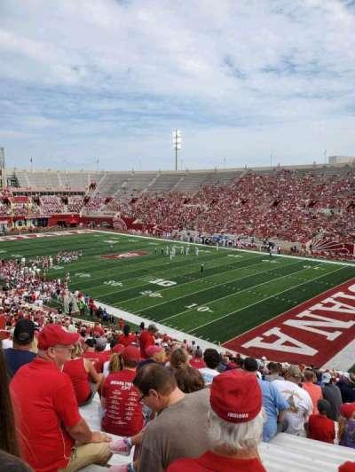 Memorial Stadium (Indiana), section: 1, row: 47, seat: 6