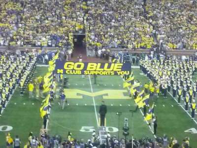 Michigan Stadium, section: 23, row: 46