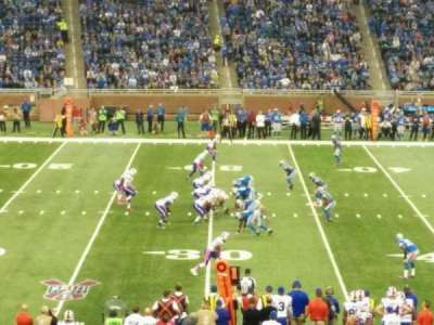 Ford Field, section: 126, row: 33, seat: 1