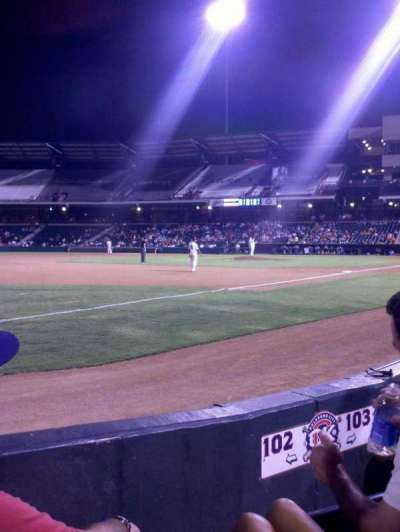 Chickasaw Bricktown Ballpark, section: 102, row: C, seat: 3