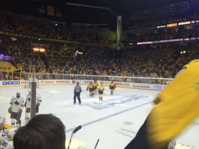 Bridgestone Arena, section: 115, row: DD, seat: 2