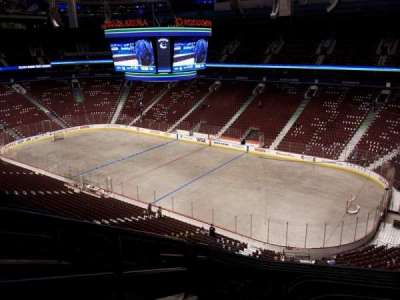 Rogers Arena, section: 305, row: 9, seat: 1
