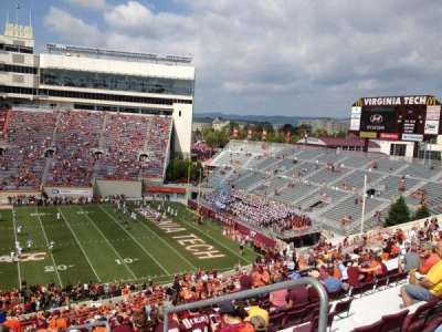 Lane Stadium, section: 7, row: RRR, seat: 5