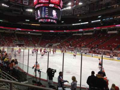 PNC Arena, section: 129, row: H, seat: 9