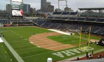 TD Ameritrade Park, section: 221, row: 9, seat: 1