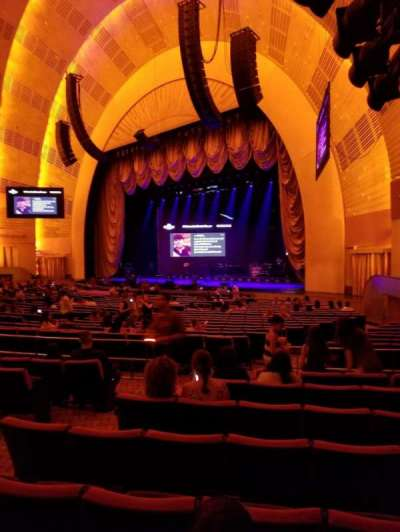 Radio City Music Hall, section: Orchestra 1, row: D, seat: 104