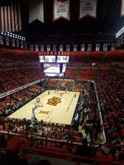 Gallagher-Iba Arena, section: 323, row: 3, seat: 2