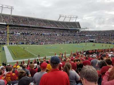Camping World Stadium, section: 139, row: X, seat: 18