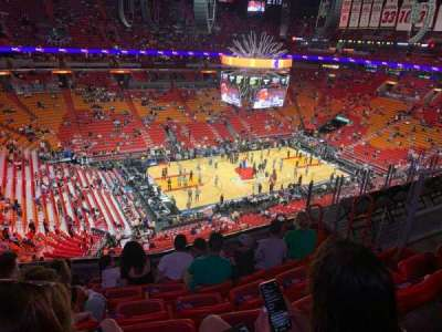 American Airlines Arena, section: 311, row: 7, seat: 8