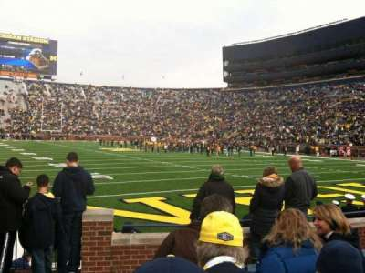 Michigan Stadium, section: 15, row: 6, seat: 19