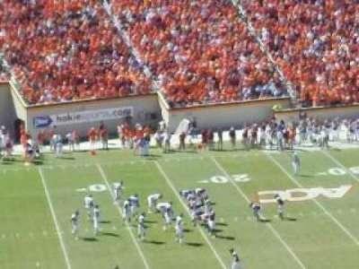 Lane Stadium, section: 37, row: 44, seat: 26