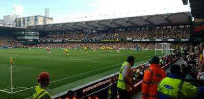 Vicarage Road, section: VRS1, row: EE, seat: 8