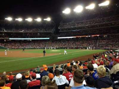 Nationals Park, section: 112, row: M, seat: 7