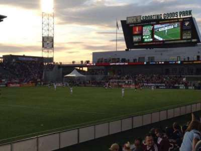 Dick's Sporting Goods Park, section: 107, row: 7, seat: 7