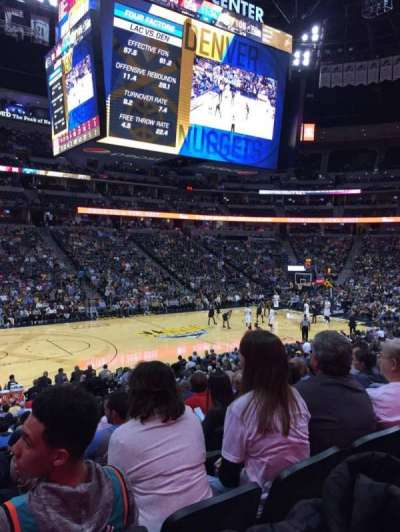 Pepsi Center, section: 104, row: 17, seat: 12