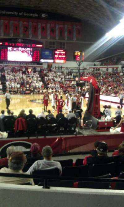 Stegeman Coliseum, section: N, row: 3, seat: 6