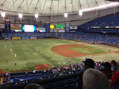 Tropicana Field, section: 217, row: G, seat: 1