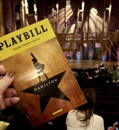 Richard Rodgers Theatre, section: Center Orchestra , row: L, seat: 106