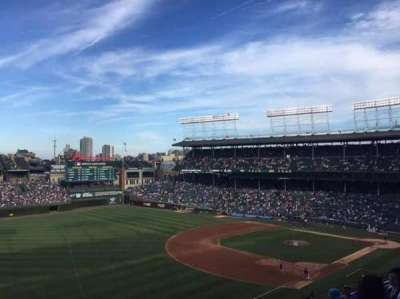 Wrigley Field, section: 406, row: 6, seat: 105