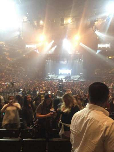 Staples center, section: 106, row: 12 , seat: 15