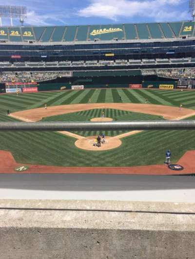 Oakland Alameda Coliseum, section: 217, row: 1, seat: 3
