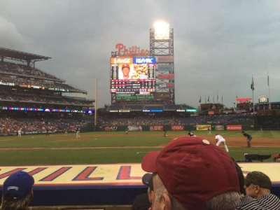 Citizens Bank Park, section: 116, row: 4, seat: 18