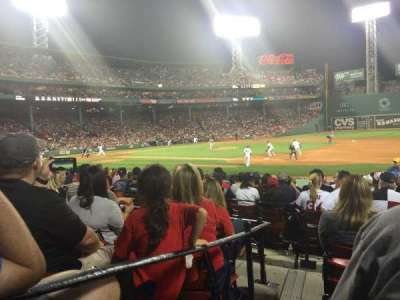 Fenway Park, section: Loge Box 106, row: EE, seat: 4