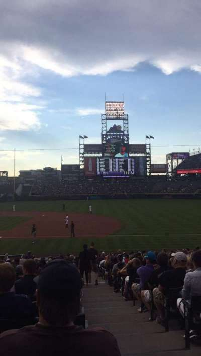Coors Field, section: 121, row: 26, seat: 1
