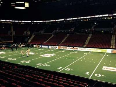 Moda Center, section: 121, row: M