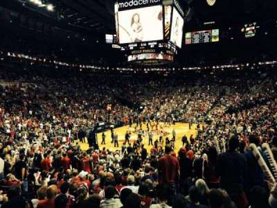Moda Center, section: 116, row: L, seat: 17