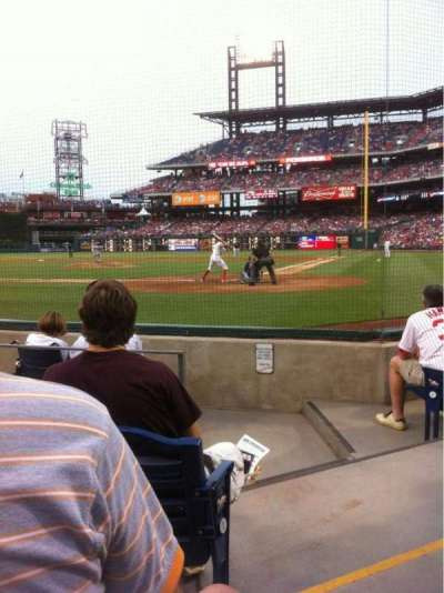 Citizens Bank Park, section: B, row: 5, seat: 1