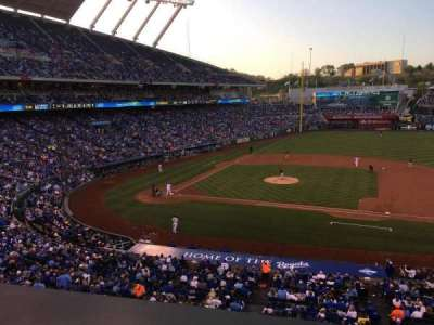Kauffman Stadium, section: 316, row: A, seat: 12