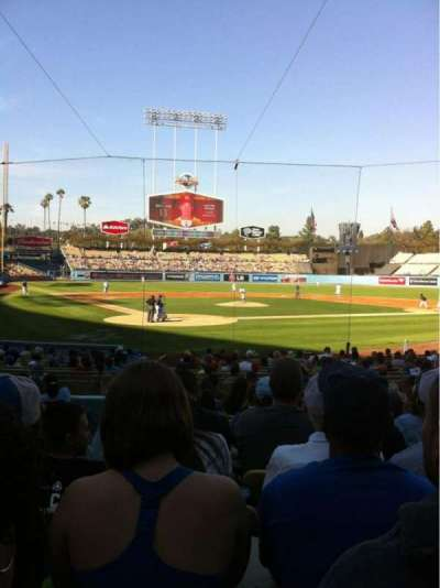 Dodger Stadium, section: 6FD, row: M, seat: 2