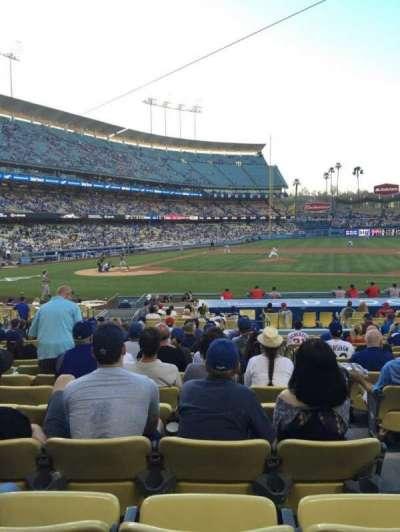 Dodger Stadium, section: 16FD, row: P, seat: 7
