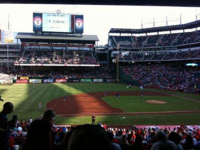 Globe Life Park in Arlington, section: 118, row: 34, seat: 11