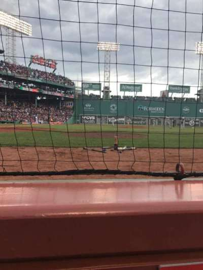 Fenway Park, section: Field Box 35, row: 1, seat: 1
