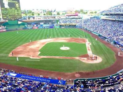 Kauffman Stadium, section: 413, row: A, seat: 16