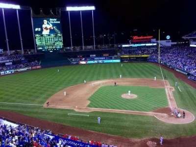 Kauffman Stadium, section: 413, row: A, seat: 19
