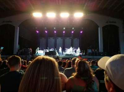 Bank of New Hampshire Pavilion, section: 1B, row: 18, seat: 18