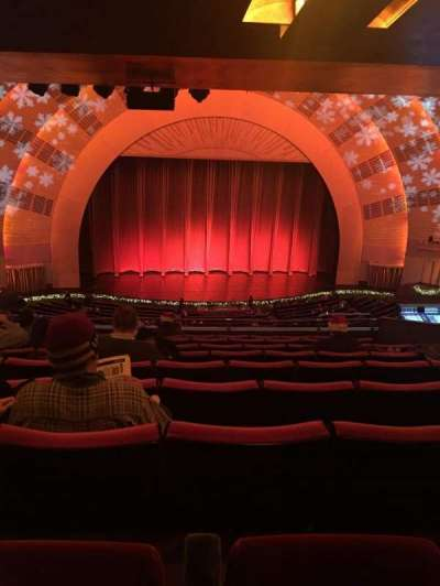 Radio city music hall section 2nd mezzanine 5 row j